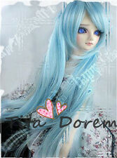 BJD Doll Wig 1/4 7-8 Head SD LUTS MDD DOD AE DZ MSD YOSD Dollfie Blue Long Hair