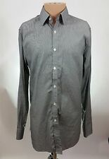 Theory Men's Long Sleeve Cotton Button Front Dress Shirt Gray Size 16 32/33