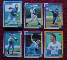 1990 Topps Kansas City Royals Baseball Team Set (29 Cards) ~ Bo Jackson BRETT ++