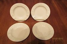Four Wedgwood Embossed Queen's Ware Cream On Cream Ashtrays ~ England