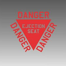 Ejection Seat Decal Authenic Aviation Aircraft Pilot Sticker Placard Graphic