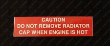 Suits Holden VR VS HSV V8 185i 215i - Caution Radiator Cap Hot Decal