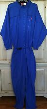 Vtg BLUE NIKE ONE PIECE WINDBREAKER TRACK SUIT Jacket Ski SNOW Pants Running XL