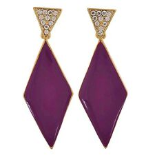 Maayra Superb Purple Stone Crystals Cocktail Drop Earrings MY7265