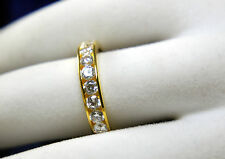 Wedding Band 2 ct vvs Diamonds 14k Yellow Gold for Men and Woman with Diamante