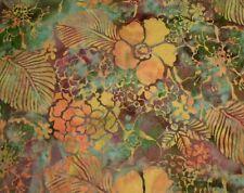 Hoffman Batik Bali Chop Mixed Floral M2739-553 Rainforest 100% Cotton Batik BTY