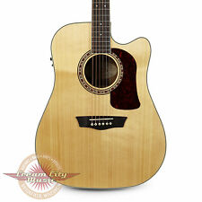 Brand New Washburn HD20SCE Dreadnought Acoustic-Electric Guitar in Natural