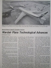 8/1977 ARTICLE +2  PAGES WESTERN CANADIAN CARRIERS 4 - WARDAIR 747 MAX WARD MOTH