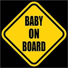 """BABY ON BOARD Vinyl Decal/Sticker Yellow 5.5""""H"""