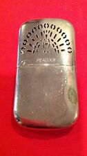 Vintage PEACOCK Stainless Steel Fuel Hand Warmer Occupied Japan War Fish Hunt