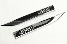 2Pcs Car Metal Black Jeep Bets Car Fender Skirts Knife Side Sticker Emblem Badge