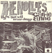 "HOLLIES ‎– Carrie Anne (1967 NEAR MINT VINYL SINGLE 7"" DUTCH PS)"