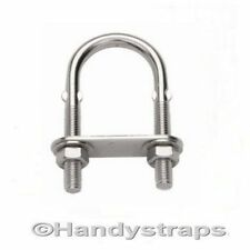 6mm x 80mm U BOLT & PLATE  Stainless Steel Marine for 35mm pipe