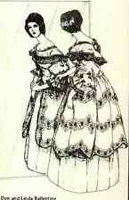 "14.5""ANTIQUE FRENCH FASHION CHINA HEAD/LADY HALF/PINCUSHION DOLL DRESS PATTERN"