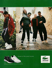 Publicité 1998  LACOSTE basket Avanti Flex sport collection mode pret à porter