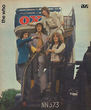 WHO - PHOTO'S + ARTICLES  FROM DUTCH MUSIC MAGAZINES 1970/1971/1972