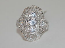 JTV Bella Luce 1.96CTW. Round and Pear Shaped Ring, Vintage Style