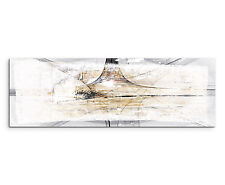 150x50cm Panoramabild Paul Sinus Art Abstrakt braun grau creme Wohnzimmer