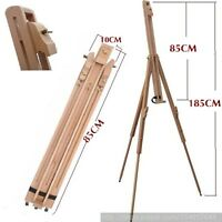 6FT HIGH QUALITY ADJUSTABLE WOODEN ARTIST PAINTING STUDIO DISPLAY TRIPOD EASEL
