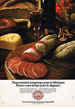 PUBLICITE ADVERTISING  1981   SUCHEZ FILS  charcuterie saucisson
