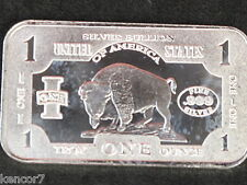 Buffalo Bison Silver Art Bar 1 Troy Oz. .999 D5233