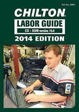 1990-2014 Chilton Labor Time Estimating Shop Flat Rate Guide Manual Book CD 2966