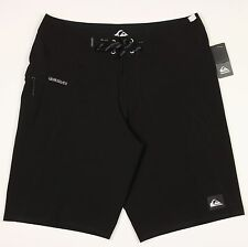 Men's QUIKSILVER Black Swimsuit Swim Board Shorts Trunks 32 NWT NEW Awesome!