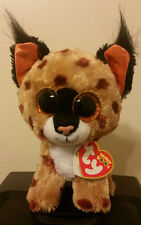 "Ty Beanie Boos ~ BUCKWHEAT the 6"" Lynx ~ 2015 NEW ~MINT with MINT TAGS ~IN HAND"