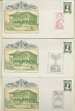 AUSTRALIA 1982 ANPEX 82 2 SETS OF 7 COVERS WITH QV STAMP ENVELOPE & SC # 846