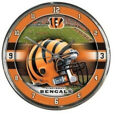 Cincinnati Bengals NFL Round Chrome Wall Clock