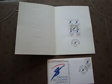 FRANCE  - 1 document 1 enveloppe 1er jour 14/11/1991 (jo albertville) (cy74)(A