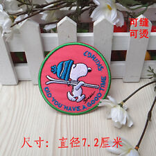 Sew on & iron on  patches(Skiing Snoopy)