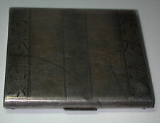 Antique Vintage Deco 20's 30's  ELGIN AMERICANSterling Silver Cigarette Case
