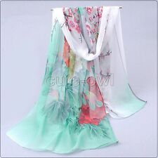 New Colorful Long Soft Women Fashion Chiffon Scarf Wrap Shawl Stole Scarves