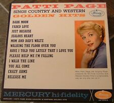 """Album By Patti Page, """"Sings Country Golden Hits"""" on Mer"""