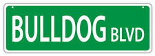 Plastic Street Signs: BULLDOG BLVD (BULL DOG) | Dogs, Gifts, Decorations
