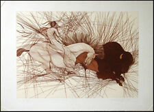 Guillaume Azoulay La Bete riginal Color Etching Hand Signed Art MAKE AN OFFER!