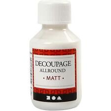 Decoupage All Round Matt Lacquer Sealing Glue 100ml Napkins/Paper Craft Make