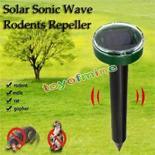 Solar Power Eco-Friendly Ultrasonic Gopher Mole Snake Mouse Pest Reject Repeller
