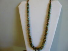 Natural Carico Lake Graduated Turquoise And 925 Native American  Style Necklace