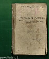 #BB. 1952  NSW RAILWAY BOOK - SAFE WORKING CATECHISM FOR  DRIVERS, FIREMEN, etc