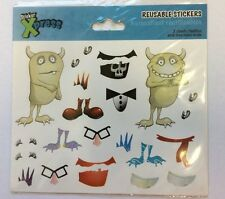 MYO Silly Monster  Stickers ( 2 sheets) Party Favor Teacher Supply Halloween