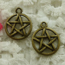 free ship 180 pieces bronze plated star charms 20x17mm #2418