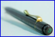 "1930ies Pelikan 200 push pencil / BLACK + GOLD / old LOGO / ""AUCH Pelikan"""