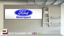 FORD MOTORSPORT 1970s retro look pvc Workshop / Garage Banner, Escort, RS2000