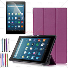Amazon Kindle Fire HD 8 6th Gen 2016 Ultra Slim Trifold PU Leather Case Cover