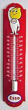 Esso Dropman vitreous enamelled steel thermometer    (jj)