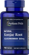 NATURAL KONJAC ROOT GLUCOMANNAN 500mg DIETARY SUPPLEMENT 90RAPID RELEASE CAPSULE