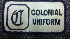 "VINTAGE COLONIAL UNIFORM Sew-On Patch EMBROIDERY 4.5""X2.5"""