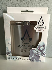 BNIB Genuine Assassins Creed Merchandise Boxed Stainless Steel Hip Flask 6oz